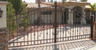 beautiful decorative arched driveway gates with scrolls