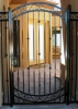 Arched 8' tall courtyard entry gate & panels