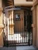 Massive & solid entry gate; solid twisted pickets & scrolls
