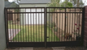 solid and secure driveway double gates