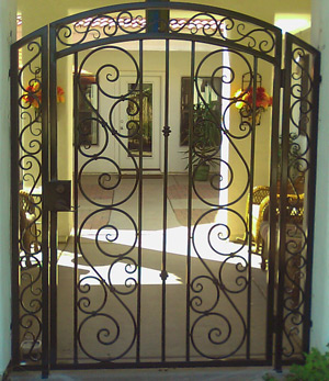 Captivating View Decorative Wrought Iron Gates