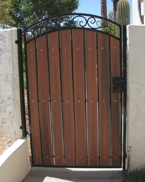 Decorative Wrought Iron Gates Decorative Arched Gate With