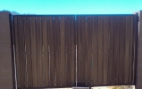 standard driveway gate with composite privacy slats