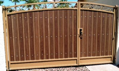 A Wrought Iron Gate With Natural Or Composite Wood Can Make A Beautiful  Addition To Any Chandler Home Or Business. Our Skilled Fabricators Will  Help You ...